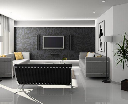 Color negro en decoración de interiores - Pinturas Noroeste - Pintores Madrid